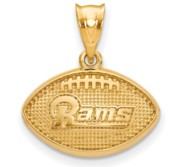 LogoArt Los Angeles Rams Football Pendant