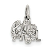 Sterling Silver Polished  Little Angel  Pendant