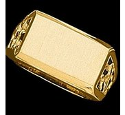 14k Gold Men s Rectangle Signet Ring
