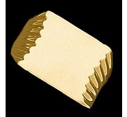 14K Gold Men s Square Signet Ring