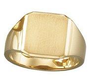 14K Gold Men s Square Signet Ring