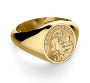 First Holy Communion Religious Ring for a Boy