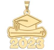 Graduation Cap 2017 w Diploma Pendant