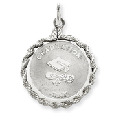 Sterling Silver Graduation Day Disc Charm