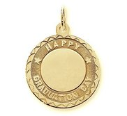 Happy Graduation Day Engravable Pendant Charm