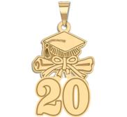 Graduation Cap 18 w Diploma Pendant