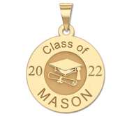 2019 Personalized Round Graduation Charm