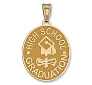 High School Graduation Oval Pendant