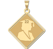 19  Female Graduation Charm or Pendant