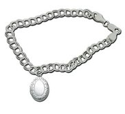 Sterling Silver Oval Locket Bracelet