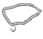 Sterling Silver  Sweetheart  Locket Bracelet