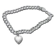 Sterling Silver Heart Locket Bracelet