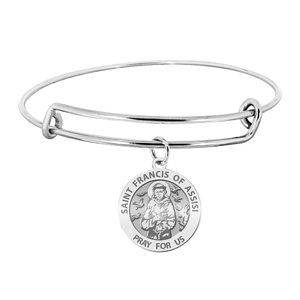 Saint Francis of Assisi Expandable Bracelet