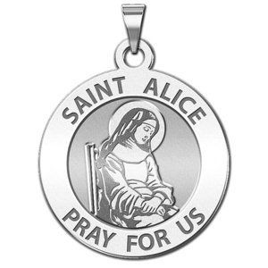 Saint Alice Round Religious Medal  EXCLUSIVE