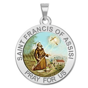 Saint Francis of Assisi Round Religious Medal