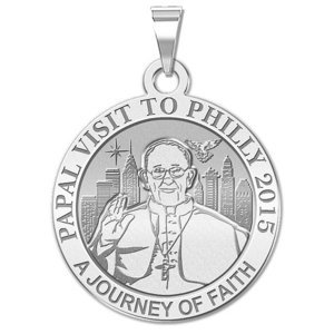Pope Francis Papal Philadelphia  PA Visit 2015    A Journey of Faith  Embossed Medal