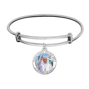 Pope Francis Color Expandable Bracelet W  Papal Visit NY 2015