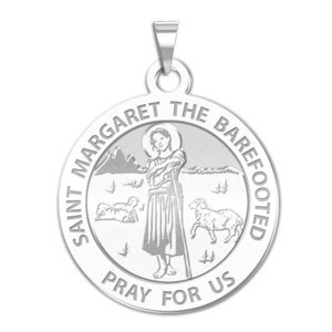 Saint Margaret the Barefooted Religious Medal  EXCLUSIVE
