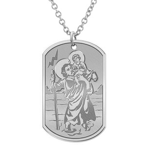 Saint Christopher Dog tag Religious Medal  EXCLUSIVE