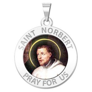 Saint Norbert Religious Medal  Color EXCLUSIVE