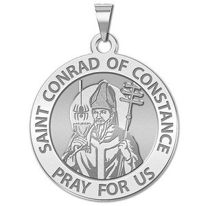 Saint Conrad of Constance Round Religious Medal    EXCLUSIVE