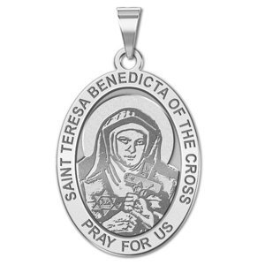 Saint Teresa Benedicta of the Cross   Oval Religious Medal  EXCLUSIVE