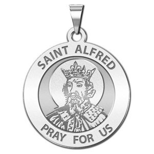 Saint Alfred Round Religious Medal  EXCLUSIVE