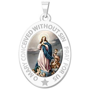 Immaculate Conception Religious Medal   Color EXCLUSIVE