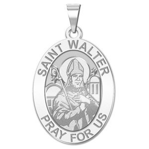 Saint Walter OVAL Religious Medal   EXCLUSIVE