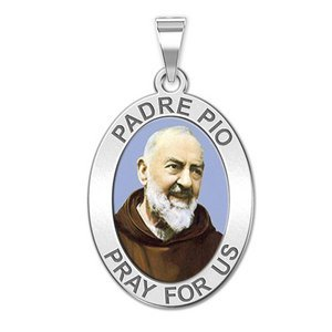 Padre Pio   OVAL  EXCLUSIVE