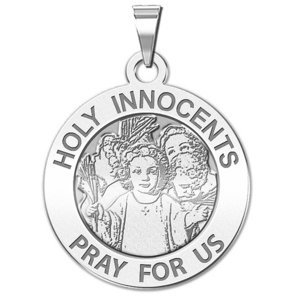 Holy Innocents Round Religious Medal   EXCLUSIVE
