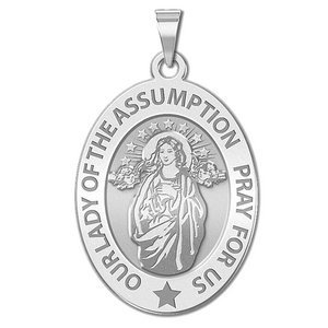 Our Lady of the Assumption Religious Medal  OVAL  EXCLUSIVE
