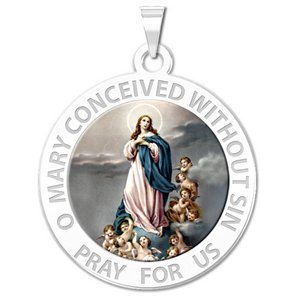 Immaculate Conception Religious Medal   EXCLUSIVE Color
