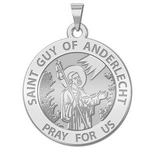 Saint Guy of Anderlecht Round  Religious Medal   EXCLUSIVE