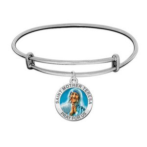 Saint Mother Teresa Expandable Bracelet EXCLUSIVE Embossed or Color