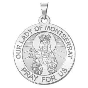 Our Lady of Montserrat Religious  English  Medal   EXCLUSIVE