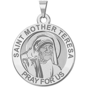 Saint Mother Teresa Religious Medal  EXCLUSIVE  In Laser