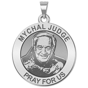 Mychal Judge Round Religious Medal   EXCLUSIVE