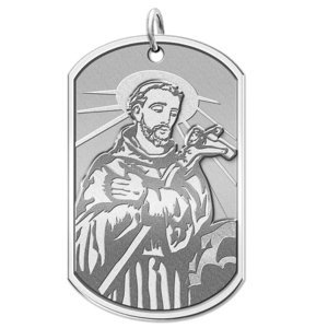 Saint Francis of Assisi Dog tag Religious Medal  EXCLUSIVE