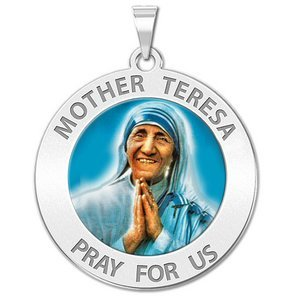 Mother Teresa Religious Medal  Color EXCLUSIVE