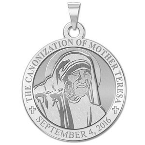 Canonization of Mother Teresa Commemorative Religious Medal in Laser