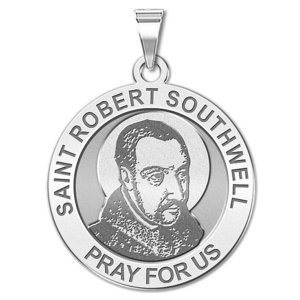 Saint Robert Southwell Round Religious Medal  EXCLUSIVE