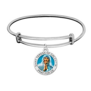 Saint Teresa of Calcutta Expandable Bracelet EXCLUSIVE Embossed or Color