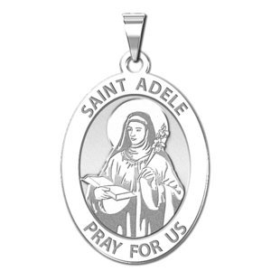 Saint Adele Oval Round Religious Medal    EXCLUSIVE