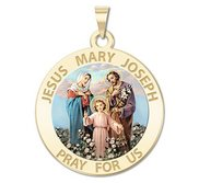 Jesus Mary Joseph Religious Medal  Color EXCLUSIVE