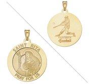 Saint Rita Religious Medal  Baseball Religious Medal  EXCLUSIVE