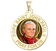 Pope Saint John Paul II Religious Medal  Color EXCLUSIVE