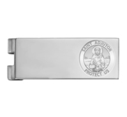 Stainless Steel Engravable Saint Adjutor Money Clip