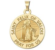 Saint Felix of Valois Round Religious Medal   EXCLUSIVE