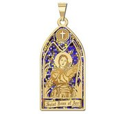 Saint Joan of Arc   Stained Glass Religious Medal  EXCLUSIVE